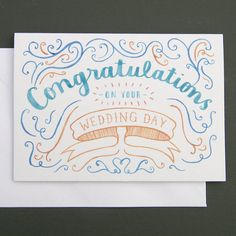 Wedding congratulations card to inspire you how to make the wedding card look astonishing 4
