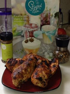 Vicki Manion has grilled up some Fiesta Rooibos Chicken with Hawaiian Chipotle Topper. Perfect summer meal!