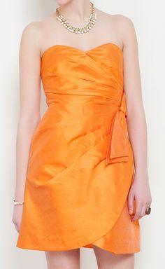 Luisa Beccaria Orange Dress   VAUNTE