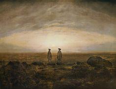 Friedrich, Caspar David -Deux hommes au bord de la mer - Alte Nationalgalerie, Berlin