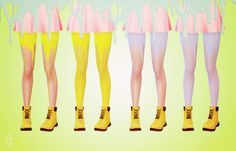 Today I present you guys to the Pastel Melting Tights! I've been thinking about doing them for a long time, and I'm pretty satisfied with how they ended up looking. There are 8 pastel recolors: blue,. The Sims, Sims 4 Mm, Maxis, Sims Packs, Sims 4 Cc Finds, Sims Mods, Ts4 Cc, Sims 4 Custom Content, Tights