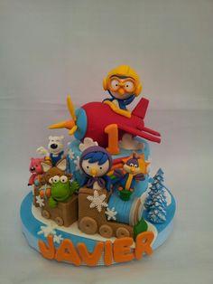 Pororo trains plane 3rd Birthday, Birthday Ideas, Arctic Penguins, Cupcakes Design, Decorated Cakes, Cookie Desserts, Themed Cakes, Cake Cookies, Alice In Wonderland