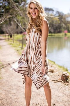 Let's Go Back Tie Dye Dress With Pockets96% Polyester4% SpandexHand Wash Cold WaterHang Or Line DryMade In The USA83308