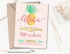 Aloha Bridal Shower Invitation Luau Bridal by PartyInvitesAndMore