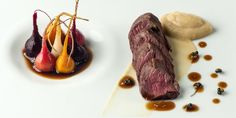 Simon Hulstone uses a brilliant turnip purée and soy glazed beetroots to complement venison loin in this tremendous recipe