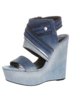 FAME STRAPE KLOEY - High Heel Sandalette - indigo/silver