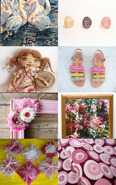 A Splash of Pink by KnitWhats on Etsy--Pinned with TreasuryPin.com