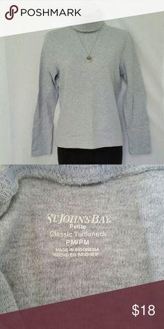 Turtleneck Tee  Like new!  MP A wardrobe staple. Like new condition St. John's Bay Tops Tees - Long Sleeve