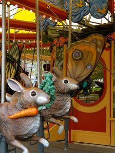 New carousel on the Rose Kennedy Greenway in Boston.