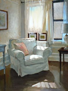 Inspiration Wall, Painting Inspiration, Light Painting, House Painting, Interior Paint, Interior Decorating, Fancy Chair, Watercolor Architecture, Aesthetic Painting