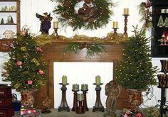 fireplace christmas decorating ideas