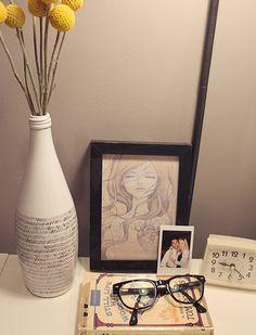 making this: DIY perrier bottle turned vase