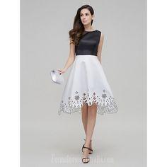 09da31888d3 Australia Cocktail Party Dress Multi-color A-line Jewel Asymmetrical Satin.  Formalgownaustralia · formal dresses australia
