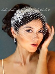 IVORY Vintage Style Bridal Bird Cage Veil 016c172a1f32