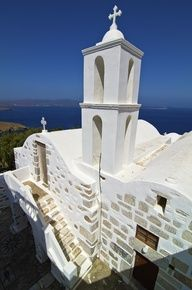 Church Bell Tower in Astypalaia Island, Greece Places Around The World, Around The Worlds, Antonio Gaudi, Religious Architecture, Parthenon, All Nature, Chapelle, Place Of Worship, Greece Travel