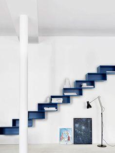 Un escalier aux rangements astucieux et design