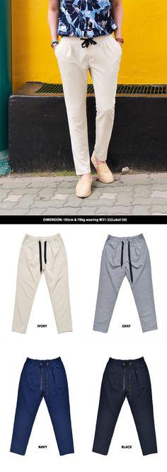 Smooth Rayon Banding Slacks-Pants 240 by Guylook.com  #men's fashion #cool #summer #stylish #fashion #guylook #guylooks #look #outfit #dope #cool #남자 #남자스타일 #스타일리쉬 #패션 #스타일