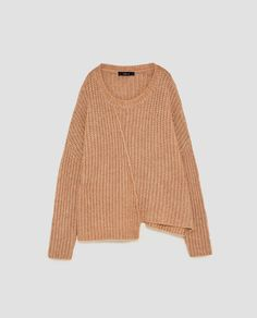 ASYMMETRIC SWEATER WITH VISIBLE SEAM from Zara