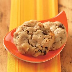 Five-Chip Cookies Recipe -With peanut butter, oats and five kinds of chips, these cookies make a hearty snack that appeals to kids of all ages. I sometimes double the recipe to share with friends and neighbors. —Sharon Hedstrom, Minnetonka, Minnesota