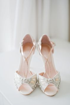 GORGEOUS vintage-inspired 'Cinderella' wedding shoes by Emmy | Photo by Dominique Bader
