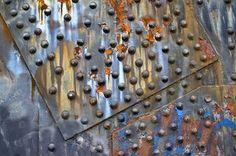 Metal and rust accents    Steel Bridge rivets