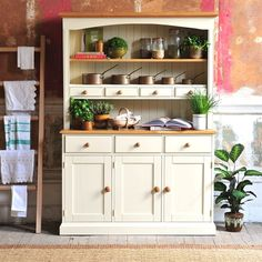 White Kitchen Dresser rustic oak dresser with wine rack 608.067 quality wooden furniture