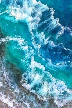 Ocean Resin Painting Torrent By Jessica Dadiomoff resin art painting jessica dadiomoff ocean art seascape Aqua blue original wall art interior design large art wave art