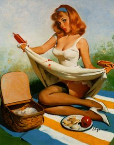 vintage pinup by malinmaskros, via Flickr