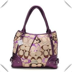 #ValueSpree #Coach Coach Poppy In Signature Medium Purple Totes AEG Is Made Of Fine Materials And Is Your Best Choice!