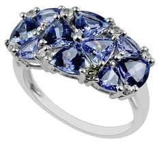 Tanzanite 3.41 Ct. Exotic Ring 925 Sterling Silver White Sapphire Gift Jewelry  #SGL #ExclusiveCollection