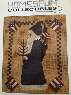 Homespun Collectibles Santa Cross Stitch Pattern Card Victorian Sack Tree | eBay