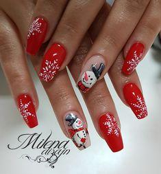 Xmas Nail Art, Holiday Nail Art, Xmas Nails, Nail Art Diy, Christmas Nails, Snowman Nails, Florida Nails, Thanksgiving Nails, Christmas Nail Art Designs