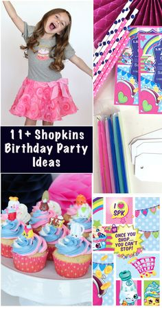 Tons of fun party ideas for a Shopkins Birthday Party!