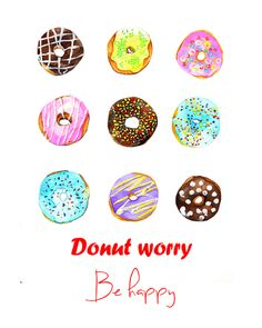 Donuts illustration by Rongrong DeVoe