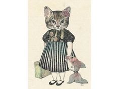 Arts And Crafts Light Fixture Info: 3273103613 Top Art Schools, Bild Tattoos, Vintage Cat, Cat Drawing, Crazy Cats, Japanese Art, Cat Art, Illustrations Posters, Cute Cats