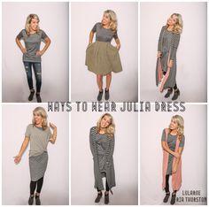 LuLaRoe Julia Dress! Ways to wear the LuLaRoe Julia!   Join our Group for styling videos & HUGE LuLaRoe Inventory: www.LuLaRoeRiaThurston.com