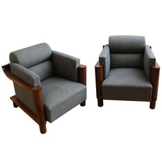 Art Deco Pair of Armchairs