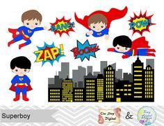 Digital Superhero Clip Art Superhero Digital by OneStopDigital