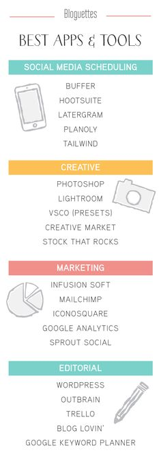 Best Apps & Tools that every brand and blogger needs! - @bloguettes #bestapps Clique aqui http://www.estrategiadigital.pt/ferramentas-de-marketing-digital/ e confira agora mesmo as nossas recomendações de Ferramentas de Marketing Digital