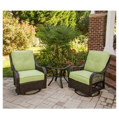 Orleans 3-Piece Wicker Patio Chat Furniture Set
