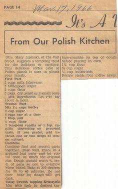Polish recipe for coffee cake +