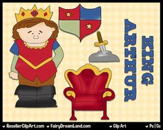 King Arthur Digital Clip Art  Commercial Use by ResellerClipArt, $1.50