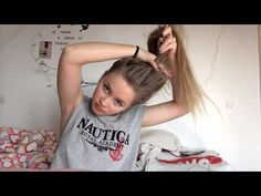 Easy messy buns for long hair - YouTube