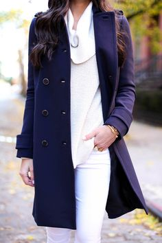 NAVY + WHITE - With Love From Kat