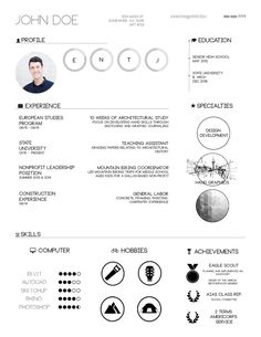 The Top Architecture Résumé/CV Designs,Submitted by Jeremy Floyd