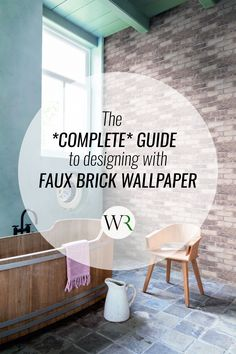 This complete guide will steer your designs in the right course and give you all the details you need to know when it comes to faux brick wallpaper. Powder Room Wallpaper, Bathroom Wallpaper, Home Wallpaper, Faux Brick Wallpaper, Buy Wallpaper Online, Inspirational Wallpapers, Walls, Advice, Floor