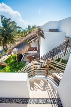 Staircase top floor roof top, tulum, mexico http://www.thebeach-tulum.com/
