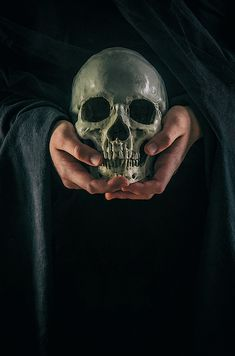 A pair of hands holding a human skull against a dark cloth background Skull Tattoo Flowers, Skull Tattoos, Sleeve Tattoos, Geometric Tattoo Design, Skull Tattoo Design, Tattoo Designs, Tattoos For Guys, Tattoos For Women, Skull Reference