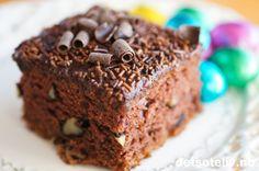 Sjokoladeruter med valnøtter | Det søte liv