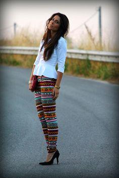 Pantaloni Geometrici